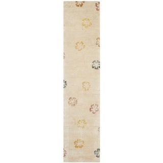 Martha Stewart Garland Blush/ Beige Wool/ Viscose Rug (2' 3 x 10')