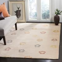 "Martha Stewart by Safavieh Garland Blush/ Beige Wool/ Viscose Rug - 8'6"" x 11'6"""