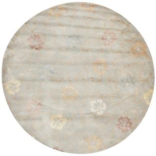 Martha Stewart Garland Pearl/ Grey Wool/ Viscose Rug (6' Round)