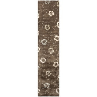 Martha Stewart by Safavieh Garland Mocha Wool/ Viscose Rug (2' 3 x 10')