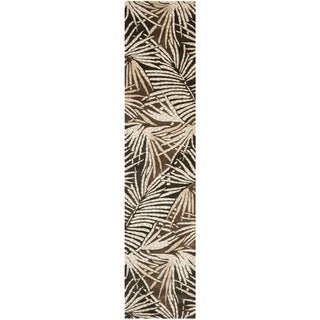 Martha Stewart by Safavieh Palms Coconut/ Brown Wool/ Viscose Rug (2' 3 x 10')