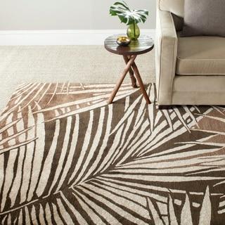 Martha Stewart Palms Coconut/ Brown Wool/ Viscose Rug (5' 6 x 8' 6)