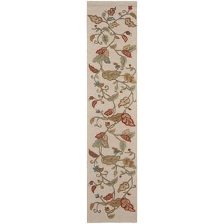Martha Stewart Autumn Woods Persimmon Red Wool/ Viscose Rug (2' 3 x 10')