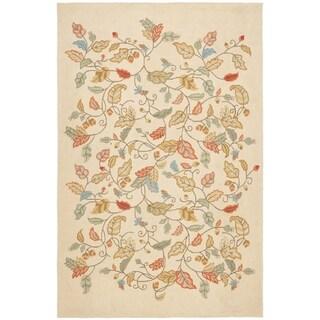 Martha Stewart Autumn Woods Persimmon Red Wool/ Viscose Rug (5' x 8')