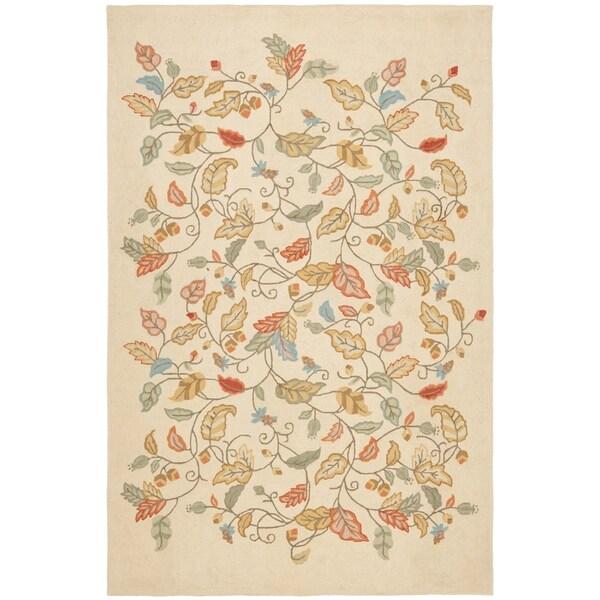Martha Stewart by Safavieh Autumn Woods Persimmon Red Wool/ Viscose Rug (5' x 8')