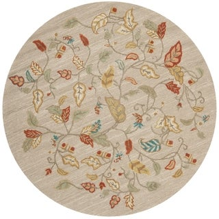 Martha Stewart Autumn Woods Persimmon Red Wool/ Viscose Rug (6' Round)
