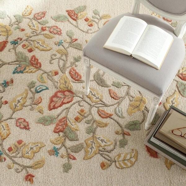 Martha Stewart by Safavieh Autumn Woods Persimmon Red Wool/ Viscose Rug (8' x 10')