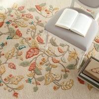 Martha Stewart by Safavieh Autumn Woods Persimmon Red Wool/ Viscose Rug - 8' x 10'