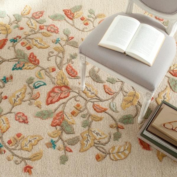 Martha Stewart by Safavieh Autumn Woods Persimmon Red Wool/ Viscose Rug - 9' x 12'