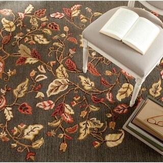Martha Stewart by Safavieh Autumn Woods Francesca Black Wool/ Viscose Rug (8' x 10')