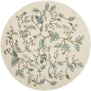 Martha Stewart by Safavieh Autumn Woods Colonial Blue Wool/ Viscose Rug (6' Round)