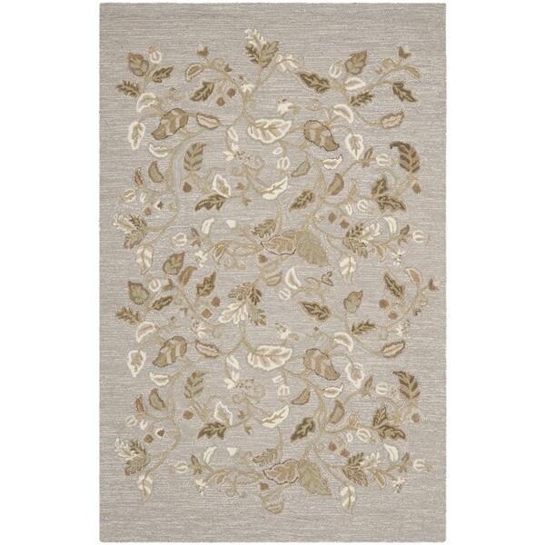 Martha Stewart by Safavieh Autumn Woods Grey Squirrel Wool/ Viscose Rug - 9'6 x 13'6
