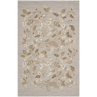 Martha Stewart by Safavieh Autumn Woods Grey Squirrel Wool/ Viscose Rug (8' x 10')