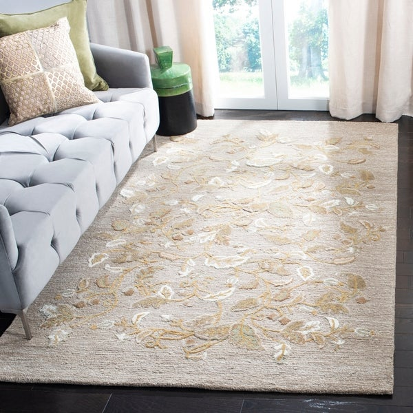 Martha Stewart by Safavieh Autumn Woods Grey Squirrel Wool/ Viscose Rug - 8' x 10'
