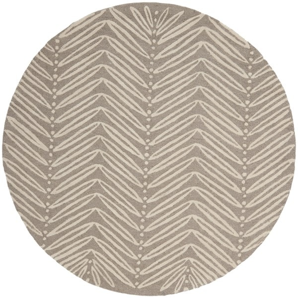 Chevron Denim Wool Rug: Shop Martha Stewart By Safavieh Chevron Leaves Chamois