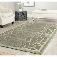 Martha Stewart by Safavieh Arusha Grassland Green Wool/ Viscose Rug - 5' x 8'