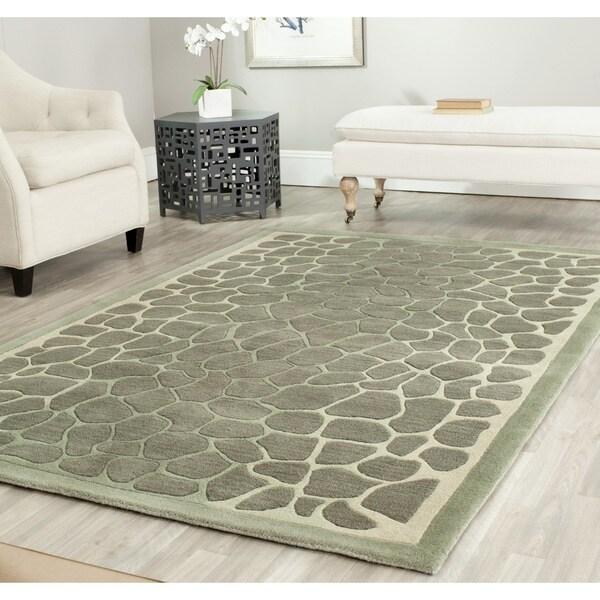 Martha Stewart by Safavieh Arusha Grassland Green Wool/ Viscose Rug - 9' x 12'