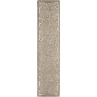 Martha Stewart by Safavieh Arusha Wheat Beige Wool/ Viscose Rug (2' 3 x 10')