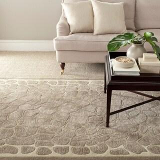 Martha Stewart by Safavieh Arusha Wheat Beige Wool/ Viscose Rug (4' x 6')