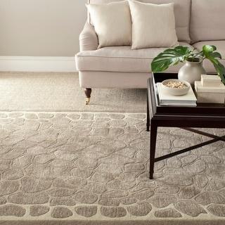 Martha Stewart Arusha Wheat Beige Wool/ Viscose Rug (5' x 8')