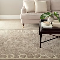 Martha Stewart by Safavieh Arusha Wheat Beige Wool/ Viscose Rug - 5' x 8'