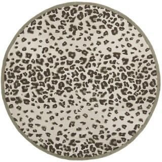 Martha Stewart Kalahari Grassland Green Wool/ Viscose Rug (6' Round)