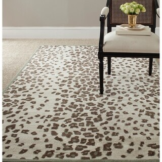 Martha Stewart by Safavieh Kalahari Grassland Green Wool/ Viscose Rug (8' x 10')