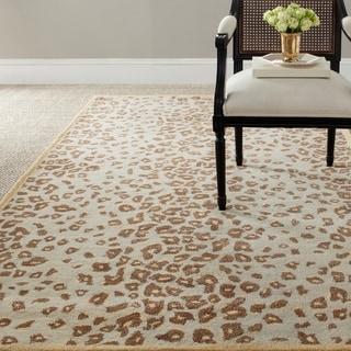 Martha Stewart Kalahari Horizon Sand Beige Wool/ Viscose Rug (9' 6 x 13' 6)