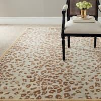 Martha Stewart by Safavieh Kalahari Horizon Sand Beige Wool/ Viscose Rug - 2'6 x 4'3