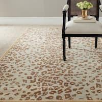 Martha Stewart by Safavieh Kalahari Horizon Sand Beige Wool/ Viscose Rug - 4' x 6'