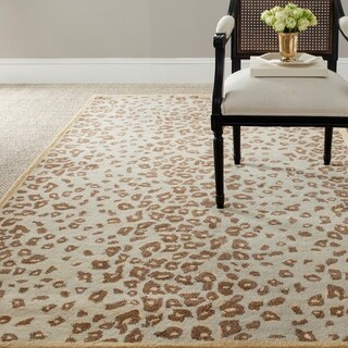 Martha Stewart Kalahari Horizon Sand Beige Wool/ Viscose Rug (8' x 10')