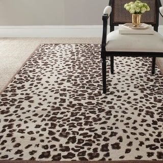 Martha Stewart Kalahari Sequoia Brown Wool/ Viscose Rug (9' 6 x 13' 6)