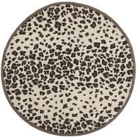 Martha Stewart by Safavieh Kalahari Sequoia Brown Wool/ Viscose Rug - 6' Round