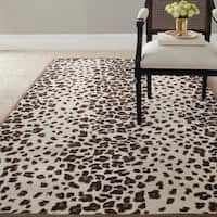 Martha Stewart by Safavieh Kalahari Sequoia Brown Wool/ Viscose Rug - 8' x 10'
