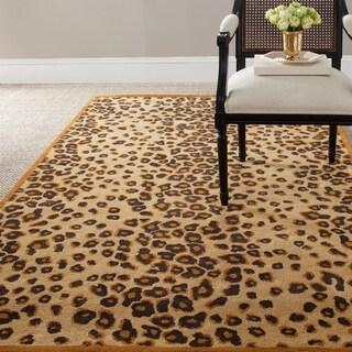 Martha Stewart by Safavieh Kalahari Sequoia Brown Wool/ Viscose Rug - 9' x 12'