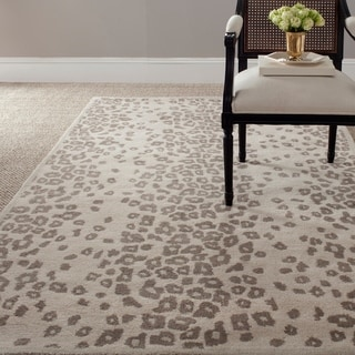 Martha Stewart Kalahari Sharkey Grey Wool/ Viscose Rug (4' x 6')