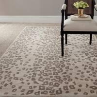 Martha Stewart by Safavieh Kalahari Sharkey Grey Wool/ Viscose Rug - 4' x 6'