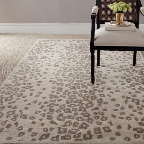 Martha Stewart by Safavieh Kalahari Sharkey Grey Wool/ Viscose Rug - 8' x 10'