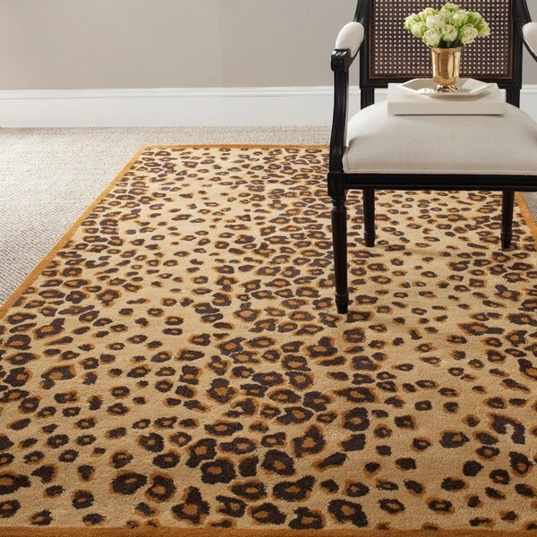 Martha Stewart by Safavieh Kalahari Teak Wool/ Viscose Rug (4' x 6')