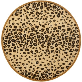 Martha Stewart Kalahari Teak Wool/ Viscose Rug (6' Round)