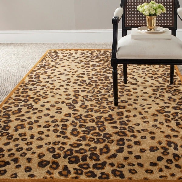 Martha Stewart by Safavieh Kalahari Teak Wool/ Viscose Rug (8' x 10')