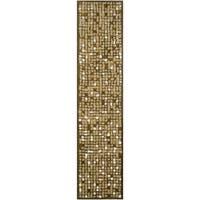 "Martha Stewart by Safavieh Mosaic Oolong Tea Green Wool/ Viscose Rug - 2'3"" x 10'"