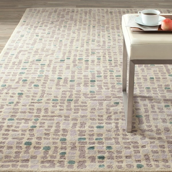 Martha Stewart by Safavieh Mosaic Purple Agate Wool/ Viscose Rug (9' 6 x 13' 6)