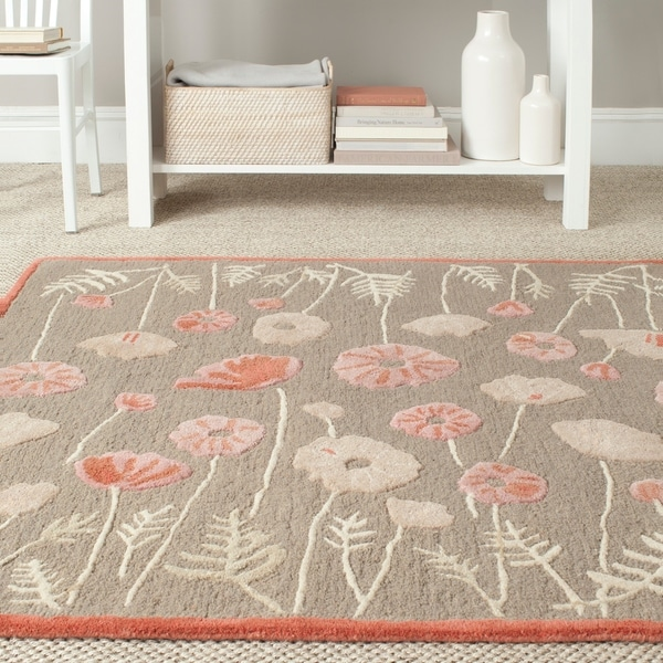 Martha Stewart by Safavieh Poppy Glossary Cayenne Red Wool/ Viscose Rug - 9'6 x 13'6