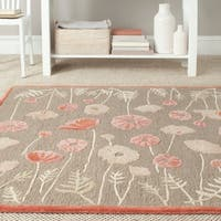 Martha Stewart by Safavieh Poppy Glossary Cayenne Red Wool/ Viscose Rug - 4' x 6'