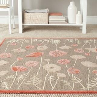 Martha Stewart by Safavieh Poppy Glossary Cayenne Red Wool/ Viscose Rug (4' x 6')