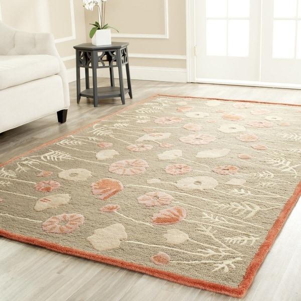 Martha Stewart by Safavieh Poppy Glossary Cayenne Red Wool/ Viscose Rug (5' x 8')