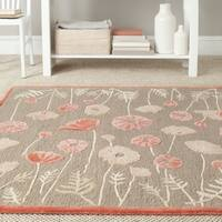 Martha Stewart by Safavieh Poppy Glossary Cayenne Red Wool/ Viscose Rug - 9' x 12'