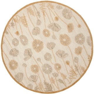 Martha Stewart Poppy Glossary Nutshell/ Brown Wool/ Viscose Rug (6' Round)