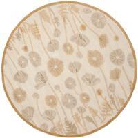 Martha Stewart by Safavieh Poppy Glossary Nutshell/ Brown Wool/ Viscose Rug - 6'